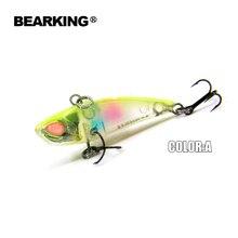 Bearking A+ fishing lures, hard bait, vib(lip less) 40mm 3.8g, sinking, good quality baits,3D eyes,vmc hooks 2017 hot model