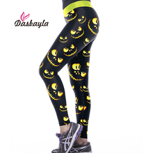 Dasbayla 2017 Women Halloween Print Leggings Sexy Ladies Skinny Pencil Pants pumpkin head Skeleton cat bat Skull leggings