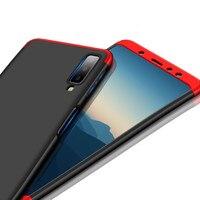 1000 шт 360 градусов полное покрытие для samsung Galaxy A9 Star Lite A8 плюс A6 2018 J4 J6 J2 Pro J3 J5 J7 J8 Жесткий ПК 3 в 1 чехол для телефона