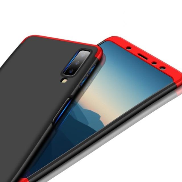 1000 pièces 360 Degrés Couverture Complète Pour Samsung Galaxy A9 Star Lite A8 Plus A6 2018 J4 J6 J2 Pro J3 J5 J7 J8 Dur PC 3 En 1 coque de téléphone