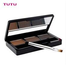 TUTU Eye Brow Makeup Kit Set 3 Color Waterproof Eye Shadow Eyebrow Powder Make Up Palette