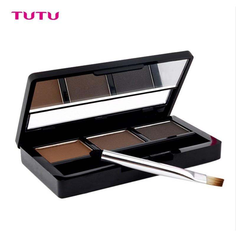 TUTU font b Eye b font Brow Makeup Kit Set 3 Color Waterproof font b Eye