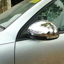 Для Volkswagen TIGUAN 2010 2011 2012 2013 Автомобильное зеркало заднего зеркала заднего вида зеркальная крышка Накладка abs хром 2 шт.; комплект из двух предметов