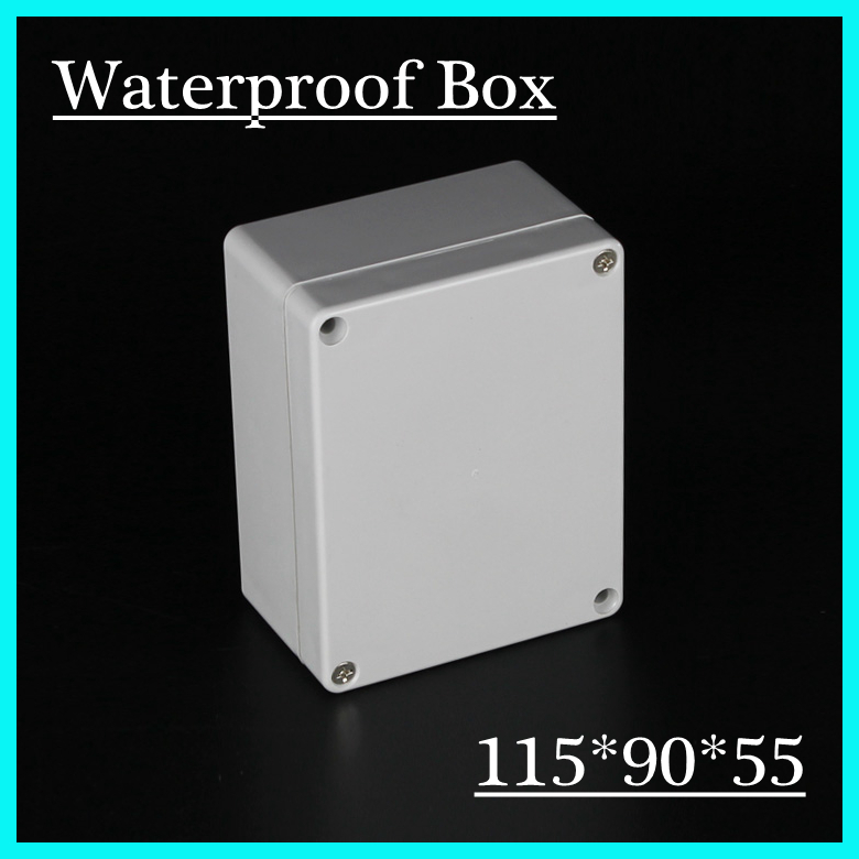 (1 piece/lot) 115*90*55mm Grey ABS Plastic IP65 Waterproof Enclosure PVC Junction Box Electronic Project Instrument Case 1 piece lot 83 81 56mm grey abs plastic ip65 waterproof enclosure pvc junction box electronic project instrument case