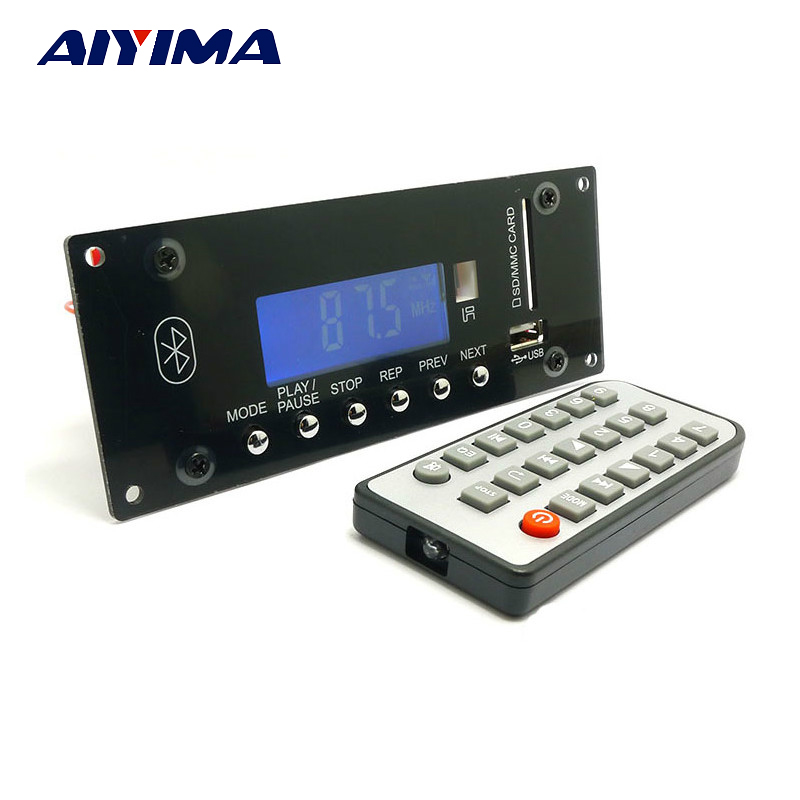 Aiyima Bluetooth 4.0 MP3 Audio Decoder Board DAC Bluetooth Receiver WMA WAV FLAC APE Decoding Support APP aiyima lcd lossless bluetooth decoder dts flac ape ac3 wav mp3 decoder board decode