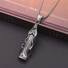 Unique Black metal Lucky Amulet Pendant Necklace For Women Men pendants Jewelry Necklaces High Quality Buddhism gifts(China)