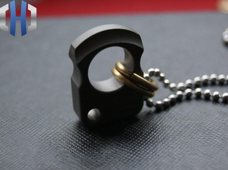 EDC Titanium Pendant Car Keychain Pendant Knife Pendant Necklace Pendant in Crowbars from Tools