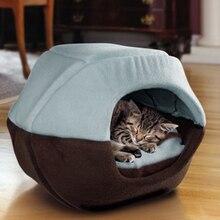 Зимняя кошка собачья Лежанка складной мягкий теплый животное щенок пещера коврик для сна гнездо питомник товары для домашних животных P7Ding