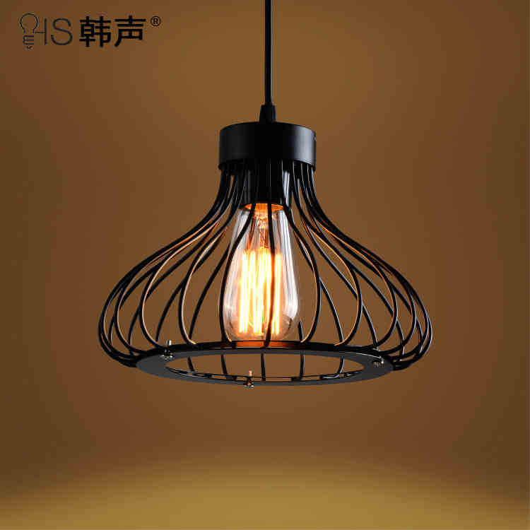 ФОТО American country industrial wind iron loft retro cafe bar chandelier lighting creative modern minimalist lighting