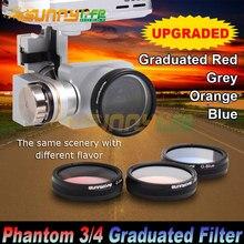 Sunnylife DJI Phantom 4/ 3 Advanced/ Professional/ Standard Camera Polarized Filters Graduated Filters Grey/ Red/ Orange/ Blue