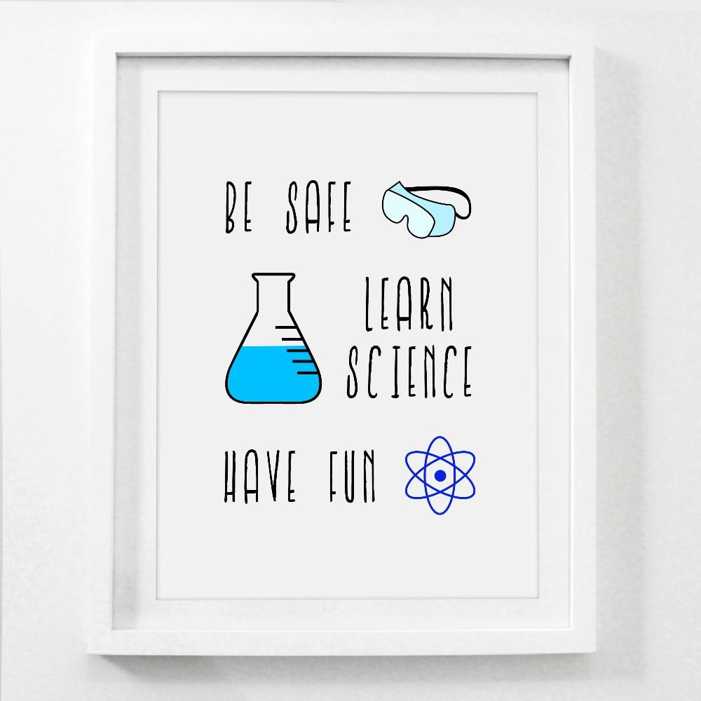 chemistry lab safety sign art canvas print poster chemistry