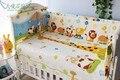 Promoção! 6 PCS kit bebê cama cama em torno de 100% algodão outono e inverno ( bumper + ficha + fronha )