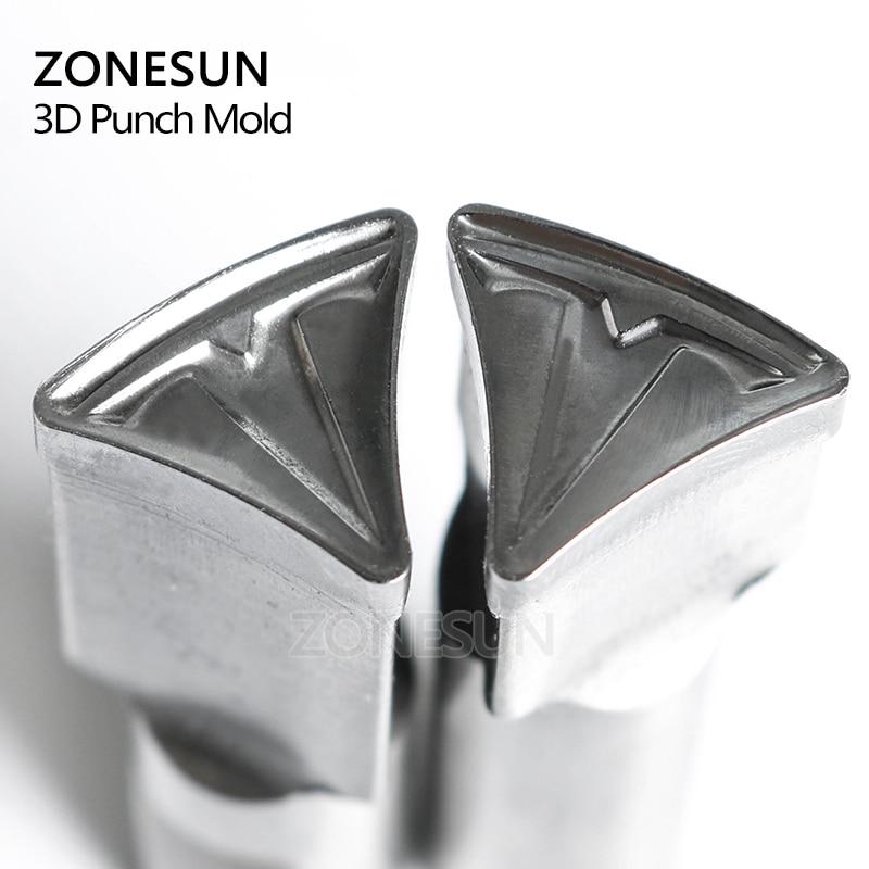 ZONESUN Tablet Customized mould Press Steel Custom Hole Punch Die Set Milk Tablet Die Logo For TDP0/1.5/3/5 Machine diy oval lace window embossed mould carbon steel cutting die