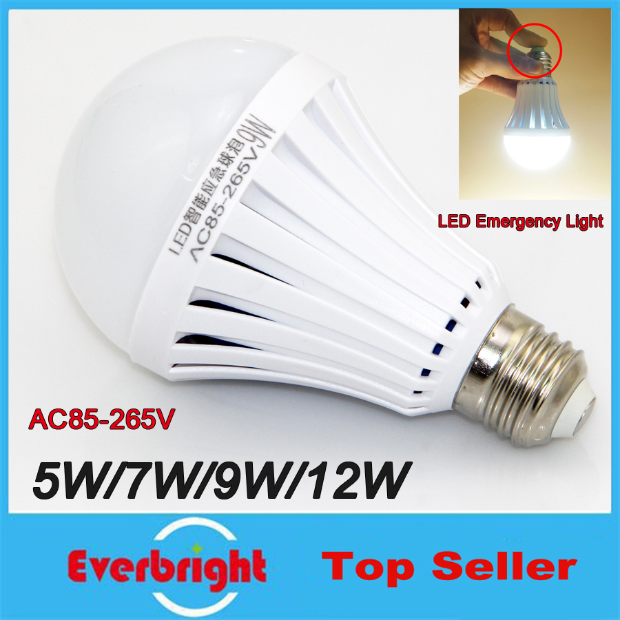 2016 New High Power Intelligent LED Magical Bulb AC85-265V E27 Rechargeable Emergency LED Bulb Lamp For Home Lights SMD5730 Chip