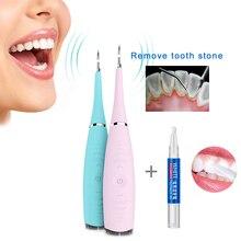 Дома Применение Электрический звуковой Зубной Скейлер зуб исчисление Remover зубов Красители зубного камня Ластик Отбеливание зубов Гигиена полости рта инструменты