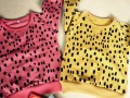 Hu Sunshine wholesale new 2016 spring autumn girls boys leopard print red yellow hoody