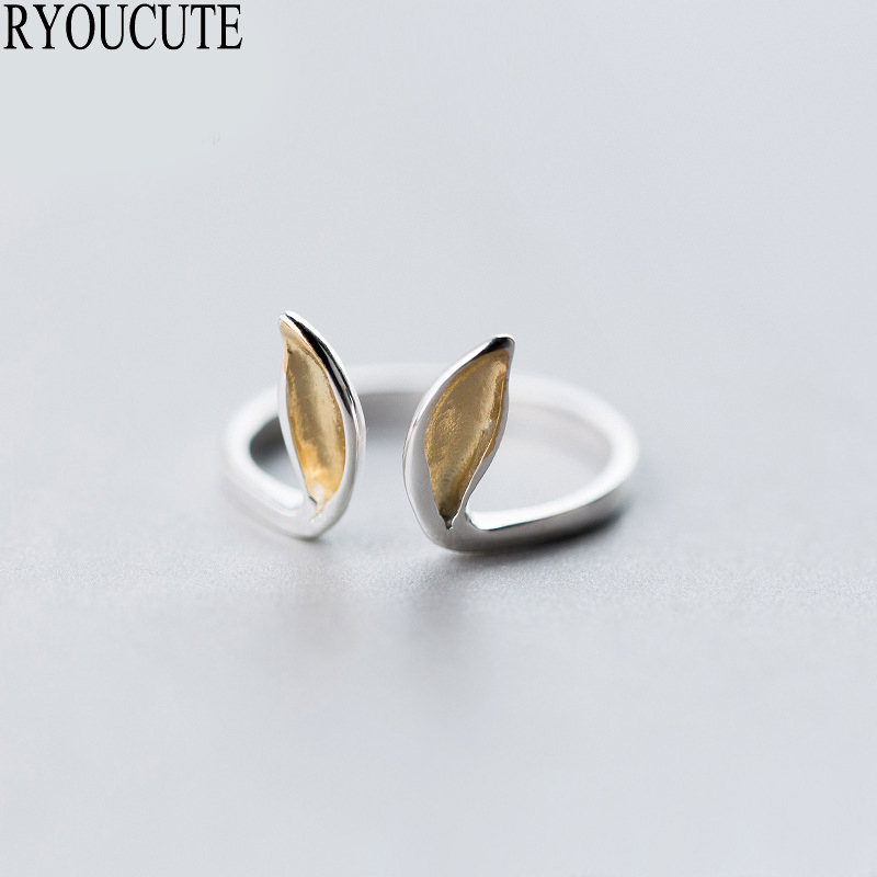 New Silver Color Rabbit Ear Rings for Women Adjustable Size Rings Fashion Wedding Jewelry 1