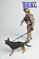 1/6 Collectible Full Set Military Soldier US.NAVY SEAL Team Six Action Figure Model & Double Weapon & Wolf dog for Fans Gifts