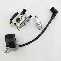 IGNITION COIL Carburetor Spark Plug For STIHL FS38 FS55 FC55 FS45 FS46 HS45