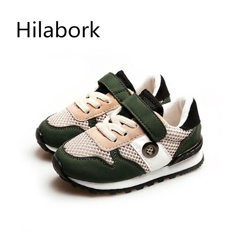 Hilabork 2017 boy shoes girls sneakers sneakers kids toddler boy shoes fashion leather sneakers boys casual