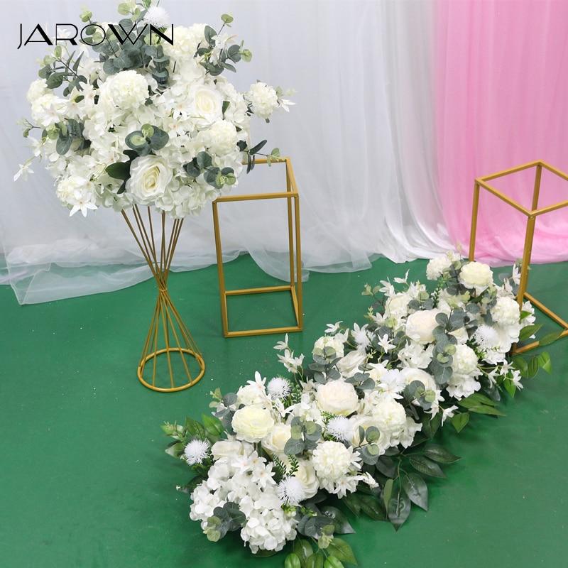 JAROWN Свадебные 100 см ряд цветов Арка композиции Цветочные этап дорога свинец цветами для свадебной сцены макет вечерние цветочные украшения