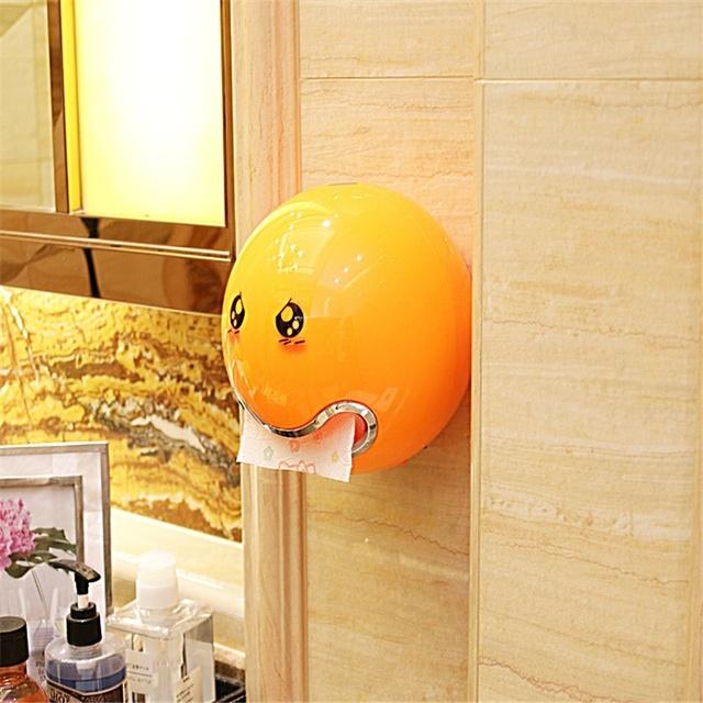 Creative Roll Paper Box Cute Ball Shaped Emoji Bathroom Toilet Waterproof Toilet Paper Box Home