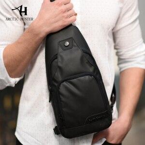 Image 4 - ARCTIC HUNTER Oxford kumaş kumaş Crossbody çanta erkekler için Messenger göğüs çanta paketi rahat çanta su geçirmez basit omuz çantası