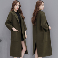 High Quality Wool Jacket Coat Female 2017 Autumn Winter Woolen Overcoat Women S Korean Temperament Woolen