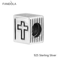 925 Sterling Silver Jewelry Pendant Bible And Cross Charm Style And More Suitable For Large Pieces