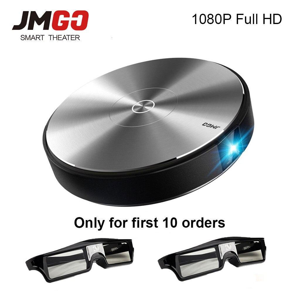 JmGO N7L Full HD Projetor 1980*1080 p Home Cinéma, 2g + 16g, 700 ANSI Lumens, 300 pouce, HDMI, USB, Bluetooth Android WIFI Soutien 4 k 3D