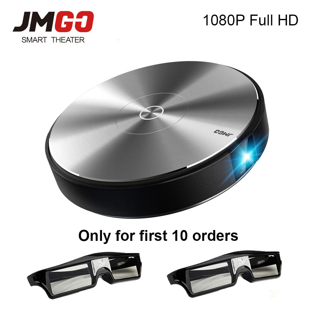 JmGO N7L Full HD proyector 1980*1080 p Home Theater, 2G + 16G, 700 ANSI lúmenes, 300 pulgadas, HDMI, USB, Bluetooth WIFI apoyo 4 K 3D