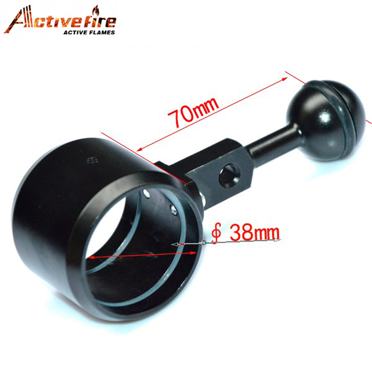 diving torch photography lights for clip 38-42mm mount Ball joint clamp and extended arm for Buoyancy fill light lamp holder