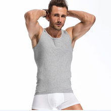 Men's Close-fitting Vest Fitness Elastic Casual O-neck Breathable