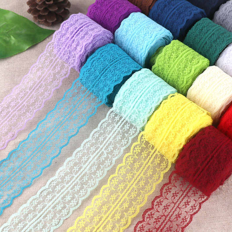 4.5cm Beautiful Lace Ribbon Fabric Trim DIY Garment Accessories Clothing Wedding Christmas Decoration Floral Embroidered Lace