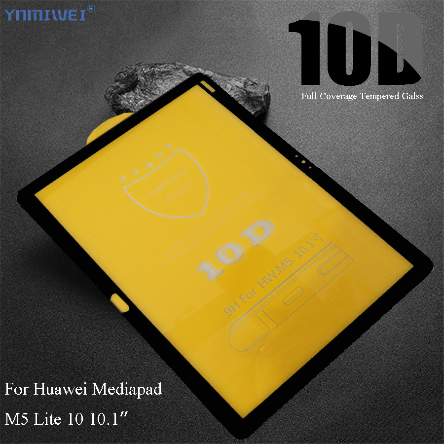 10D Full Coverage Tempered Glass Protector For Huawei MediaPad M5 Lite 10 BAH2-W19/L09/W09 10.1