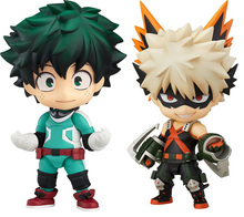 2pcs Nendoroid 686 # 705 # My Hero Academia Boku no Hero Izuku Midoriya Katsuki Bakugo Hero`s Edition Action Figure Toys lean s hero