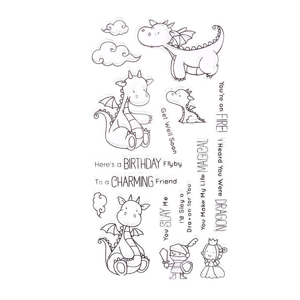 CCINEE Dragon Style Transparent Stamp Clear Stamp  Pattern Stripe DIY Scrapbooking/Card Making/Christmas Decoration Supplies маска для сноуборда dragon mdx nerve green ionized clear aft