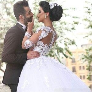 Image 2 - Свадебные платья Дубай, с длинным рукавом, большие размеры