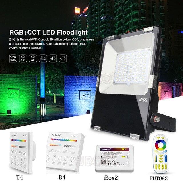 Lumière d'inondation IP65 imperméable de LED de Milight 10 W/20 W/30 W/50 W rvb + CCT AC86-265V pour le jardin FUTT02