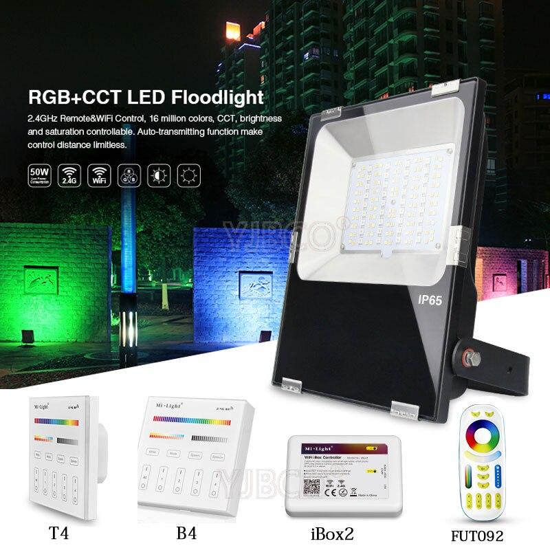 Milight 10W/20W/30W/50W RGB+CCT LED Flood light IP65 Waterproof AC86-265V Outdoor Lighting For Garden FUTT02