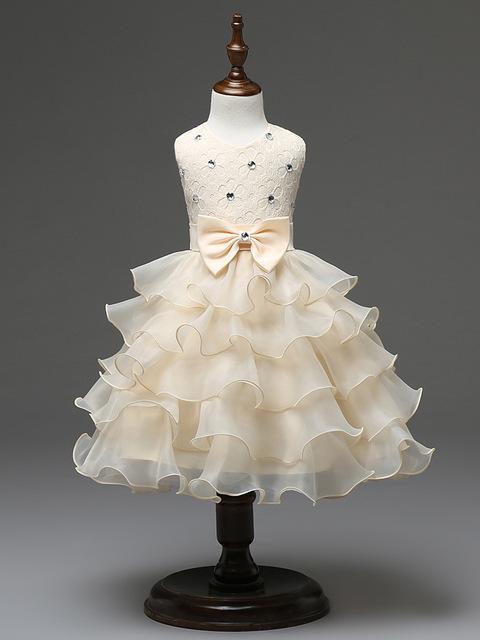 Venta caliente del bebé bautismo vestidos rhinestone cordón del recién nacido rosa y vestidos blancos de boda trajes de comunion niña