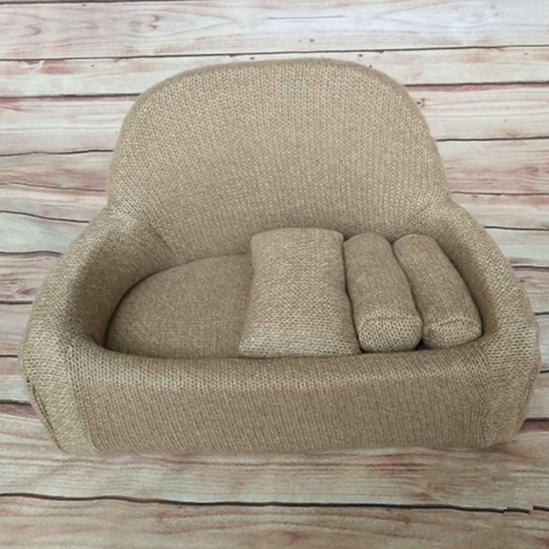Купить с кэшбэком 100 days Baby Sofa &Pillow Set Posing  Chair Decoration  Photography Accessories baby Studio Shooting Newborn Photography Props
