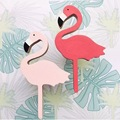 2Pcs /Sets Nordic Style  Wooden Flamingos Linked Baby Bedding Set  Room Wall Baby Room Decorative Wall Hooks
