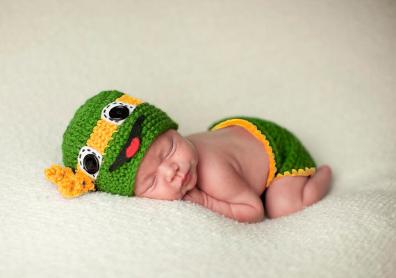 newborn Beanies, baby Ninja Turtle Hat and Diaper Cover Photo Prop baby set / BABY GIFT, newborn crochet Photography Props newborn baby photography props infant knit crochet costume peacock photo prop costume headband hat clothes set baby shower gift