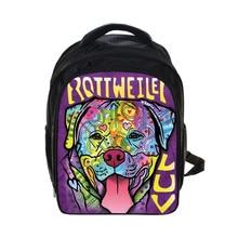 Animal Print Cute Owl Black Backpack Children School Bags Boy Fantasy Girls Kids Kindergarten Bag Rucksack For Teenagers Girls