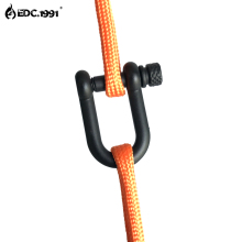 EDC.1991 High quality Adjustable U Shape Anchor Shackle Outdoor Survival Rope Paracord Bracelet Buckle For Sport