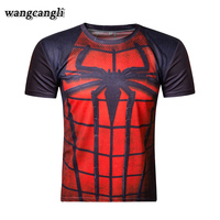 2017 Summer New Brand Black Panthers Short Sleeve Men T Shirt Personality Funny Tshirt Spiderman Compression