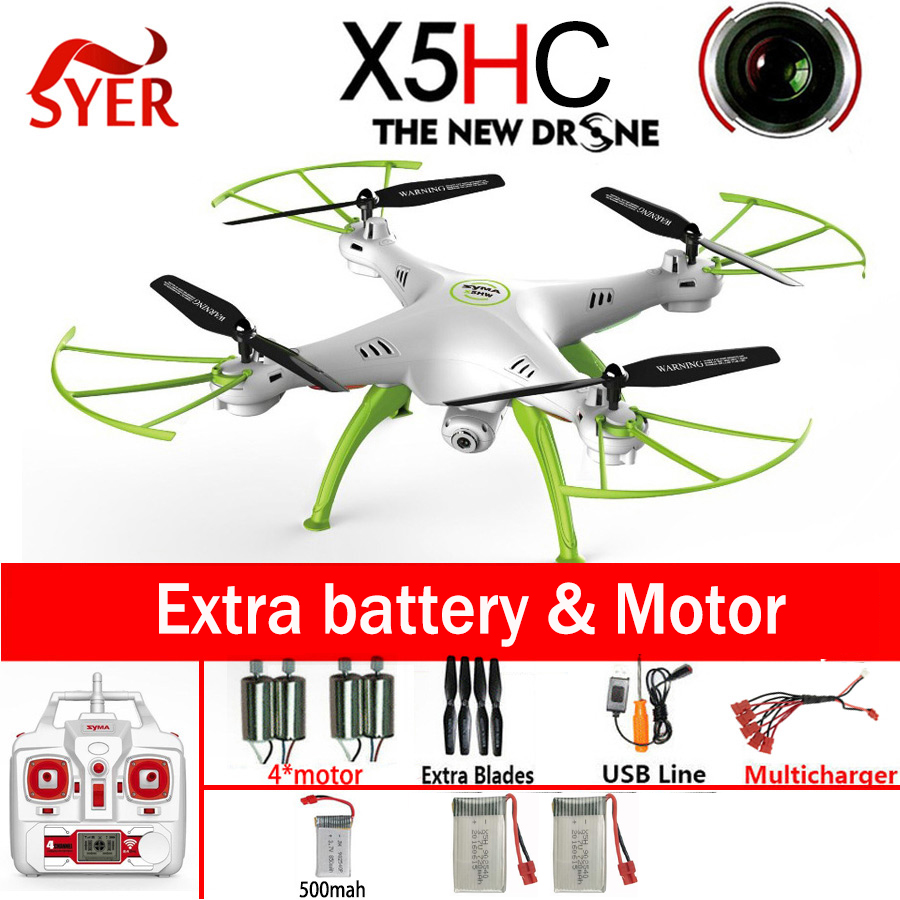 SYMA X5HC 4-CH 2.4GHz 6-Axis RC Quadcopter With 2MP HD Camera AUTO Hovering Headless Mode RC Drone Toys коврик автомобильный novline autofamily для renault logan седан 2004 2009 2010 в багажник
