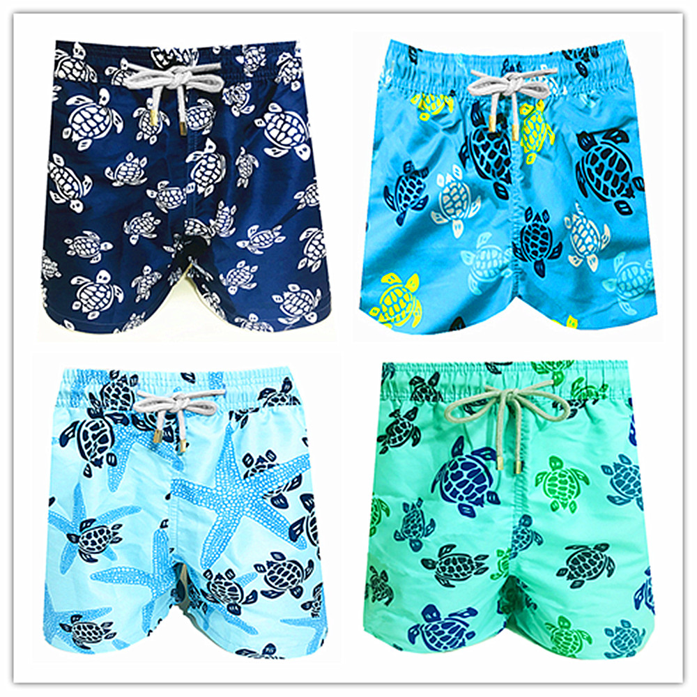 2019 Brand Vilebre Baby Boys Beach   Board     Shorts   100% Quick Dry Bermuda Turtle Children Boardshorts Vile Kids Swimwear 8-16 Years