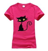 Fashion kawaii Cat Print O-neck t shirt female 2017 summer women short sleeve t-shirts harajuku cotton casual brand clothing top